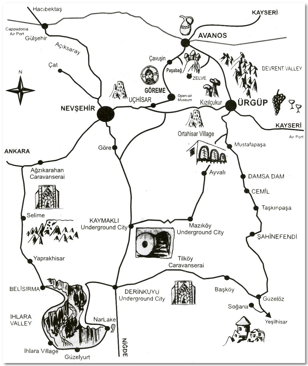 cappadocia turkey map